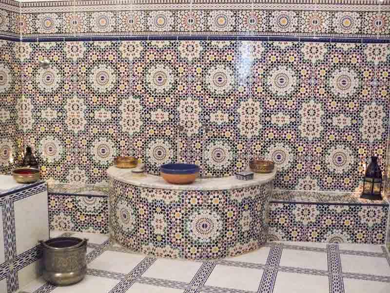 Decoration Hammam Marocain riad à la belle étoile | louez le riad à la belle étoile à rabat