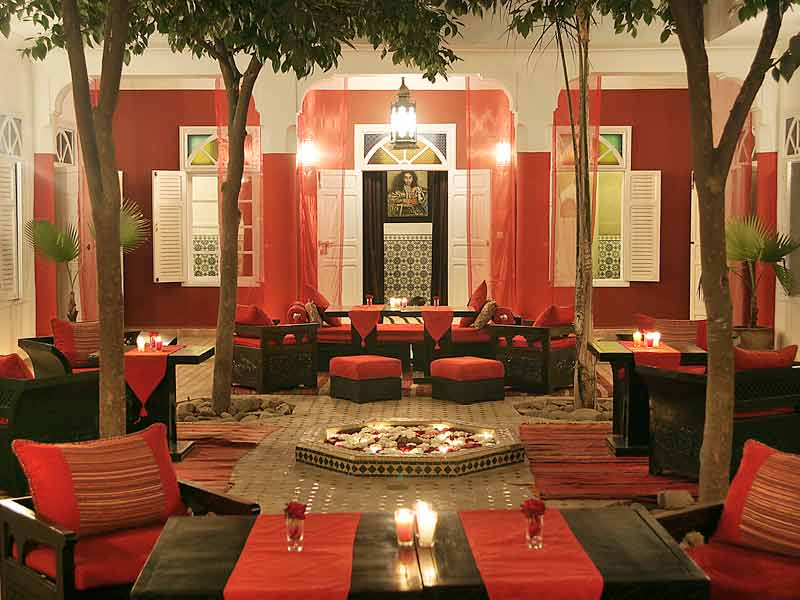 Riad la maison rouge louez le riad la maison rouge marrakech hotels amp - Le petit patio orange ...
